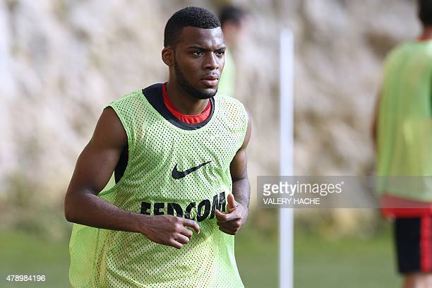 Monaco's new recruit Thomas Lemar runs during the first training session of 20152016 season on June 29 2015 in La Turbie southeastern France AFP...