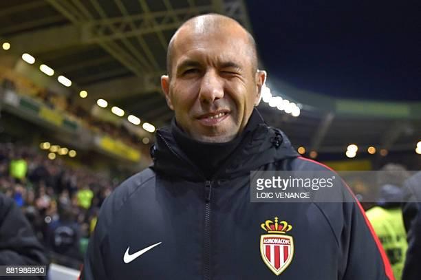 Monaco's Portuguese coach Leonardo Jardim attends the French L1 football match Nantes vs Monaco at the La Beaujoire stadium in Nantes, western...