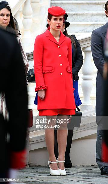 Monaco's Princess Charlotte Casiraghi attends the celebrations marking Monaco's National Day at the Monaco Palace on November 19, 2016. / AFP / POOL...