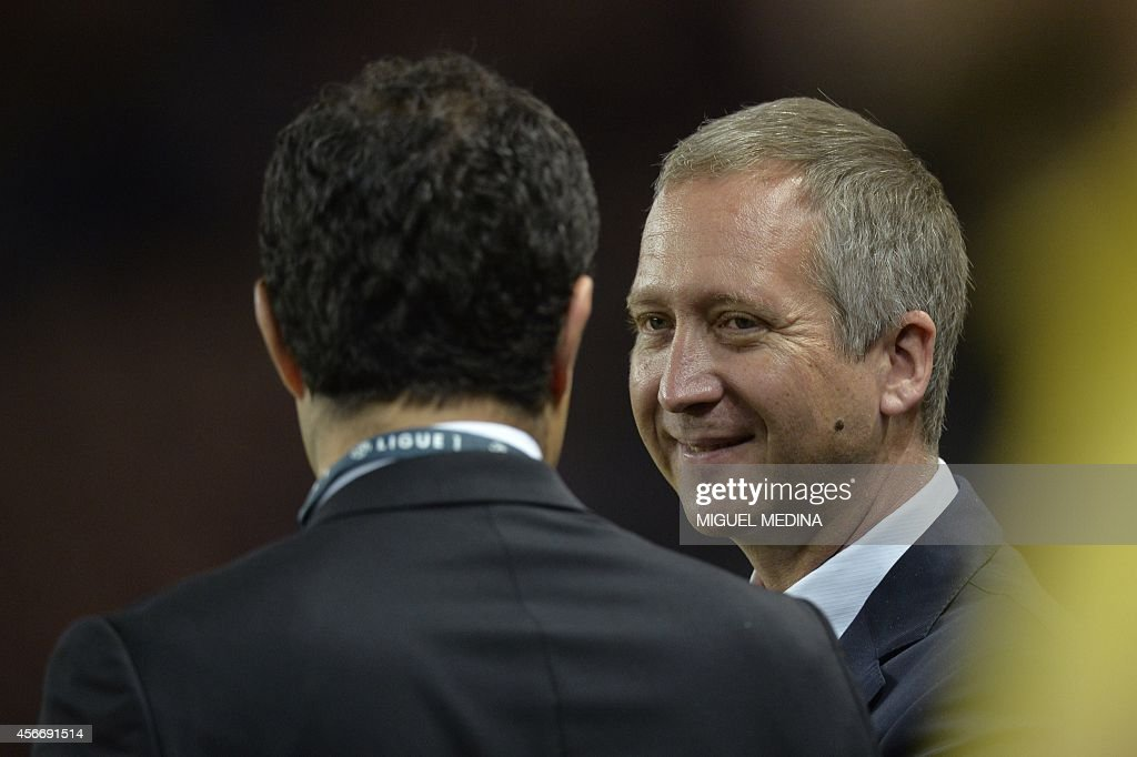 Monaco's vice president Vadim Vasilyev waits for the start of the French L1 football match between Paris Saint-Germain (PSG) and Monaco at the Parc des Princes stadium in Paris on October 5, 2014.