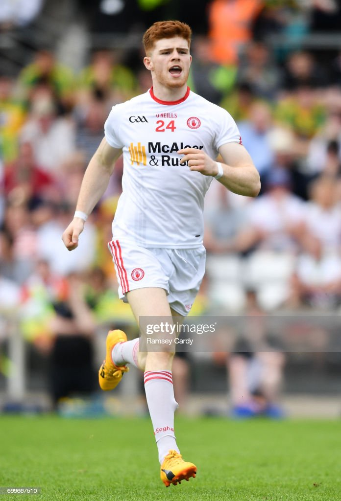 Monaghan , Ireland - 18 June 2017; Cathal McShane of Tyrone during the Ulster GAA Football Senior Championship Semi-Final match between Tyrone and Donegal at St Tiernach's Park in Clones, Co. Monaghan.