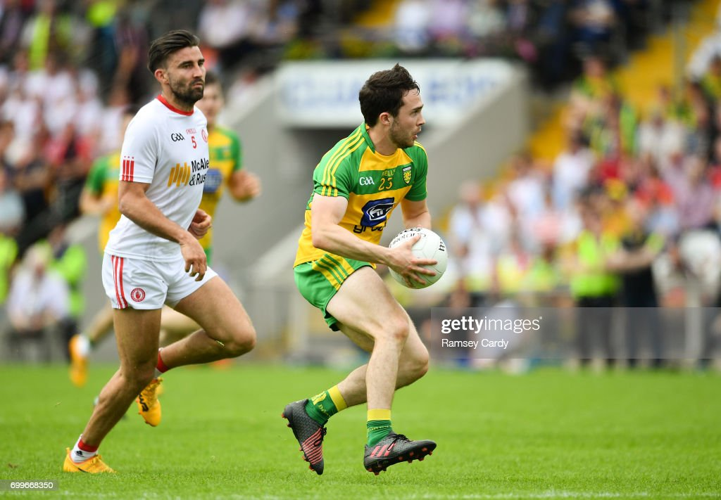 Monaghan , Ireland - 18 June 2017; Cian Mulligan of Donegal during the Ulster GAA Football Senior Championship Semi-Final match between Tyrone and Donegal at St Tiernach's Park in Clones, Co. Monaghan.
