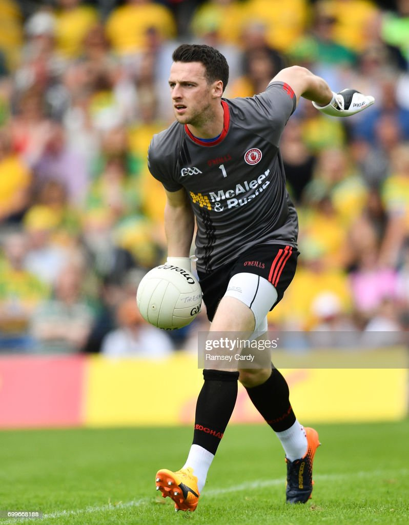 Monaghan , Ireland - 18 June 2017; Niall Morgan of Tyrone during the Ulster GAA Football Senior Championship Semi-Final match between Tyrone and Donegal at St Tiernach's Park in Clones, Co. Monaghan.