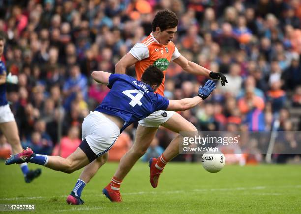 Monaghan Ireland 2 June 2019 Jarleth Óg Burns of Armagh in action against Conor Moynagh of Cavan during the Ulster GAA Football Senior Championship...