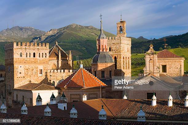 monasterio de guadalupe and town - peter adams stock pictures, royalty-free photos & images