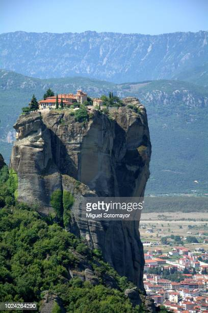 monastery agia triada in meteora - thessaly stock pictures, royalty-free photos & images