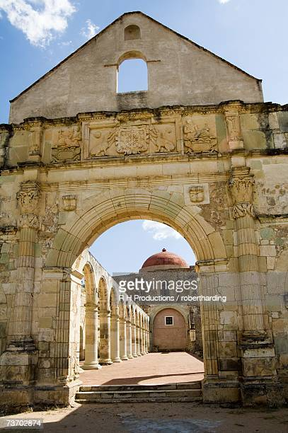 monastery and church of cuilapan, oaxaca, mexico, north america - cuilapan stock photos and pictures