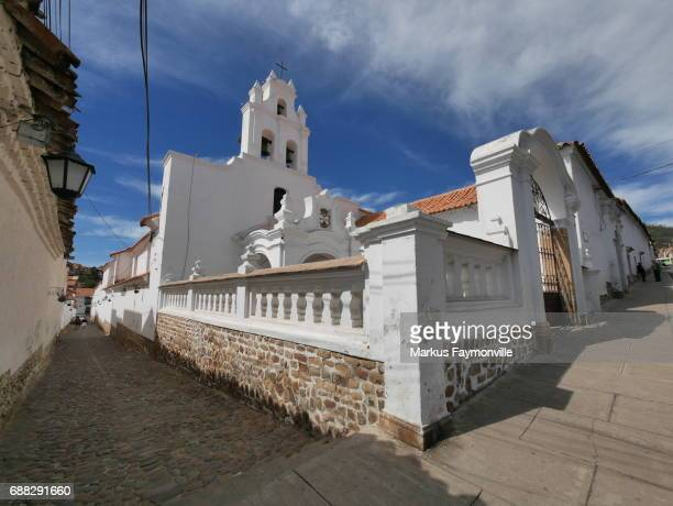 monastery and santa teresa temple - bell stock pictures, royalty-free photos & images
