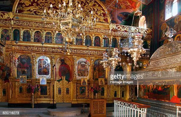 Monastery church of Agios Gerasimos Kefalonia Greece Agios Gerasimos is the patron saint of Kefalonia He came to the island in the 16th century and...