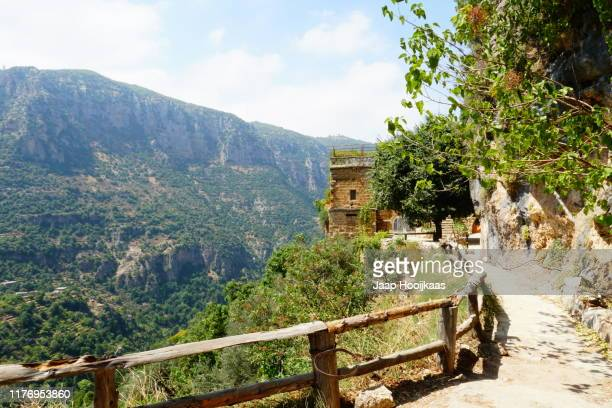 a monastery in the qadisha valley, lebanon - lebanon stock pictures, royalty-free photos & images
