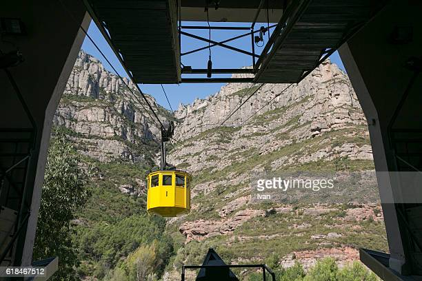 Monastery Montserrat and Cable Car (Aeri de Montserrat), Barcelona, Spain