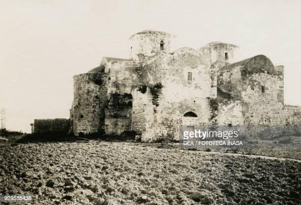 Monastery of Agios Varnavas Engomi Cyprus photograph by Camille Enlart Paris 18961901