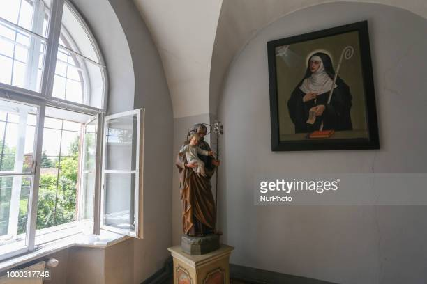Monastery of Benedictine Nuns in Staniatki Poland on 16 July 2018 Monastery in Staniatki village located about 20 km east of Krakow was founded in...