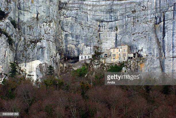 Monastery of Sainte Baume built on the hillside, located near Saint-Maximin la Sainte Baume, in the Var department.