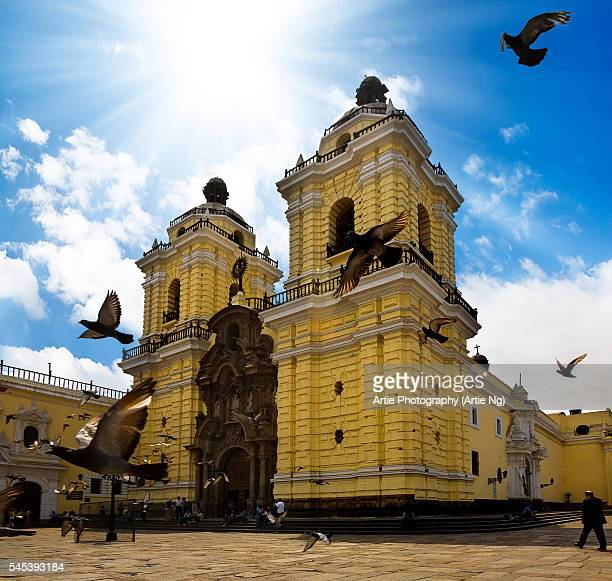 monastery of san francisco (convento de san francisco), lima, peru, south america - lima animal stock pictures, royalty-free photos & images