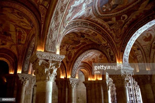 Monastery of San Isidoro Leon Panteon Real Romanesque paintings in the vault Romanesque art