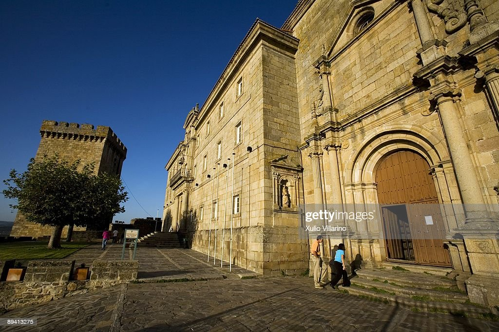 Monastery of San Vicente do Pino (17th century Benedictine Monastery), The Parador of Monforte de Lemos. Lugo. Galicia : News Photo