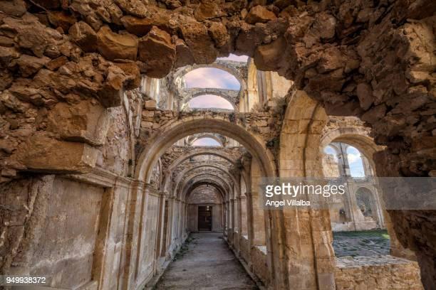 monastery of santa maría of rioseco. cloister - ブルゴス ストックフォトと画像