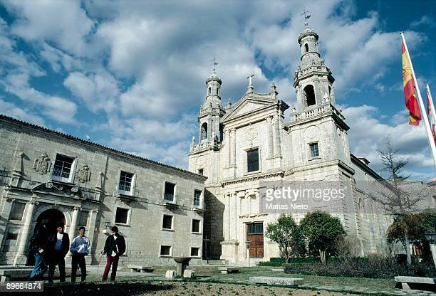 Monastery of Santa Mari de la Espina Facade of the chruch and monastery of Santa Maria de la Espina in Castromonte. 12th -13th and later centuries. Valladolid province