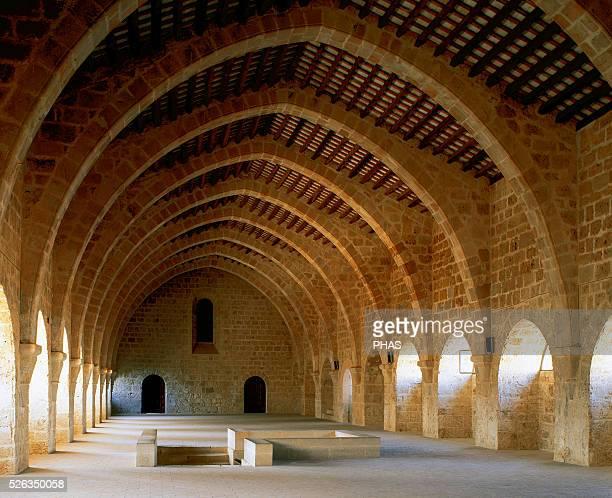 Monastery of Santa Maria de Santes Creus Cistercian Dormitory 1191 Ogival arches Catalonia Spain