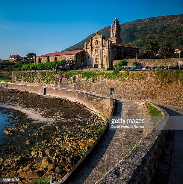 monastery of santa maria la real de oia, oya. galicia - sturbridge stock photos and pictures