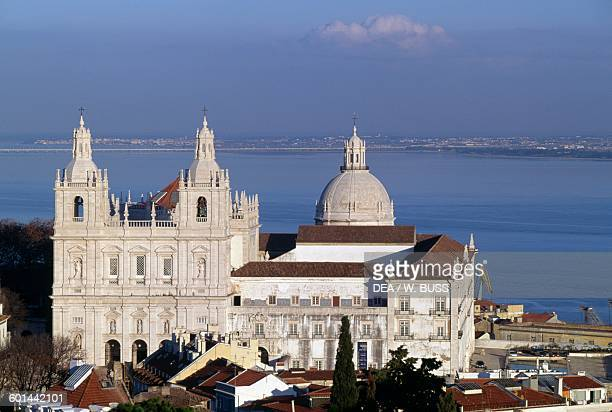 Monastery of Sao Vicente de Fora 15821629 with the dome of the Church of St Engracia in the background Lisbon Portugal