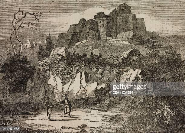 Monastery of St John, Patmos, Greece, illustration from Teatro universale, Raccolta enciclopedica e scenografica, No 100, May 28 1836.