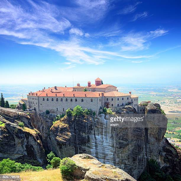 monastery of st. stephen - thessaly stock pictures, royalty-free photos & images