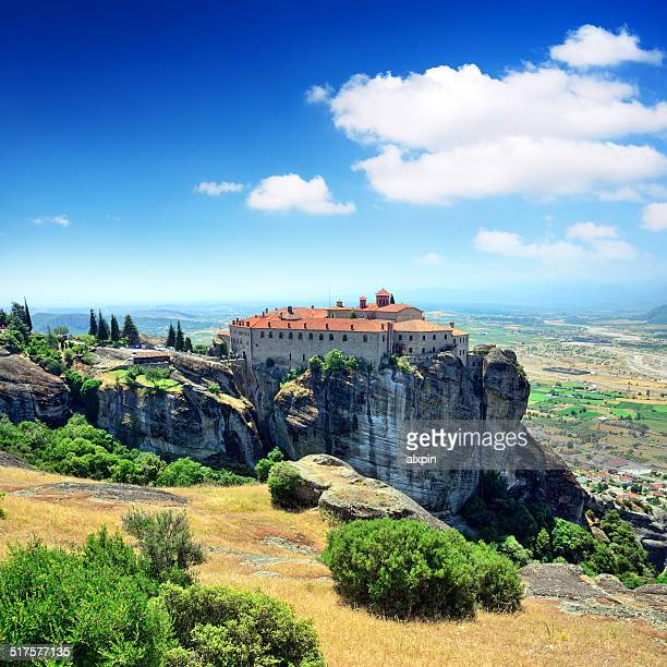 monastery of st. stephen - meteora stock pictures, royalty-free photos & images