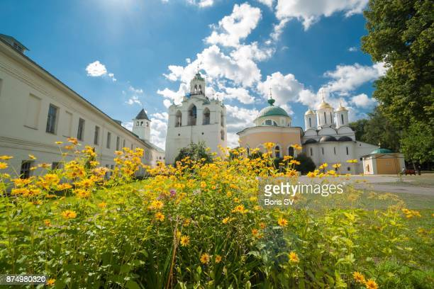 Monastery of the Transfiguration of the Savior, lit by the sunshine, Yaroslavl, Russia