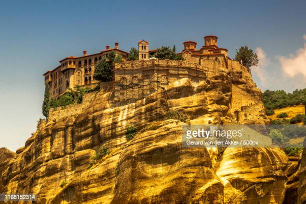 monastery of varlaam - greece v albania stock pictures, royalty-free photos & images
