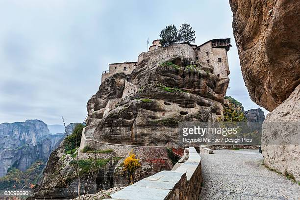 Monastery perched on a cliff