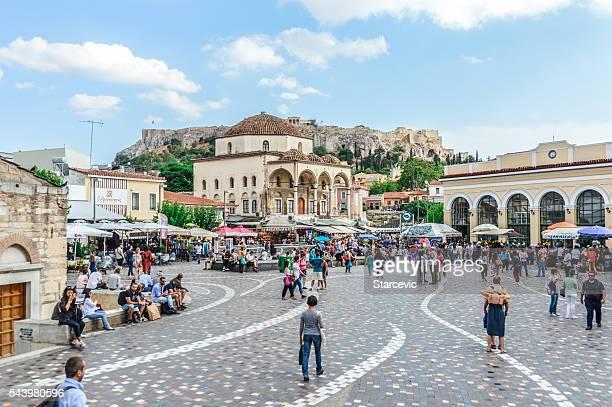 Monastiraki-Platz in Athen, Griechenland