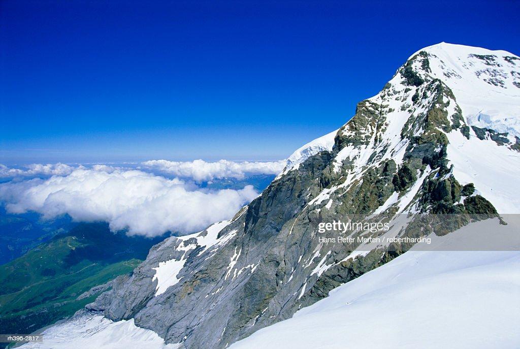 Monch (13449 ft) mountain, Bernese Oberland, Swiss Alps, Switzerland, Europe : Stockfoto