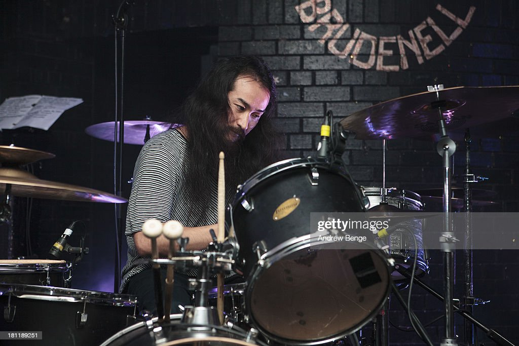 Mon-Chan of Xaviers performs on stage at Brudenell Social Club on September 19, 2013 in Leeds, England.