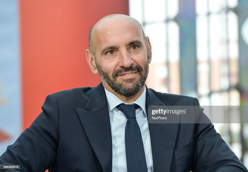 Monchi during a press conference to present book 'Monchi' in 'Nuvola' Convention Centre on december 08, 2017 in Rome, Italy.