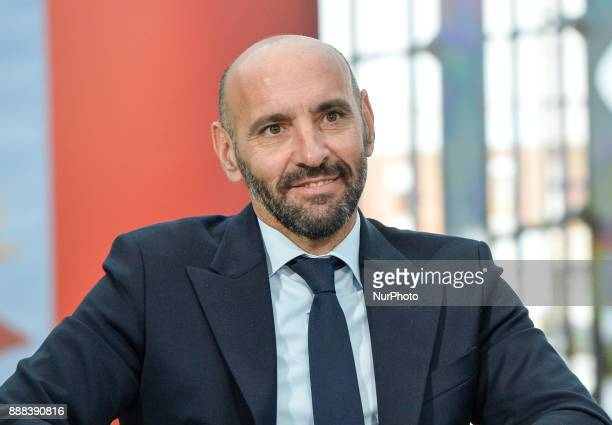 Monchi during a press conference to present book 'Monchi' in 'Nuvola' Convention Centre on december 08 2017 in Rome Italy
