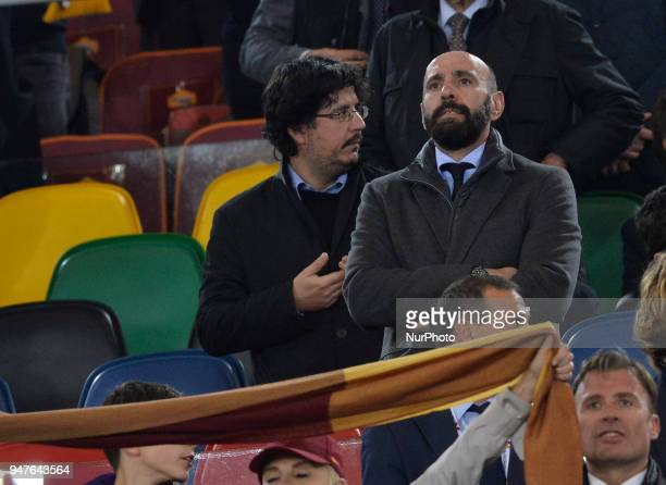 Monchi during the UEFA Champions League quarter final match between AS Roma and FC Barcelona at the Olympic stadium on April 10 2018 in Rome Italy