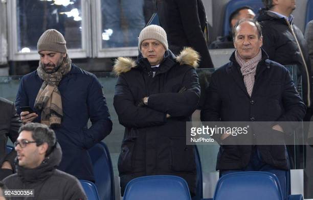 Monchi Mauro Baldissoni Antonio Tempestilli during the Italian Serie A football match between AS Roma and AC Milan at the Olympic Stadium in Rome on...