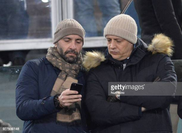 Monchi Mauro Baldissoni during the Italian Serie A football match between AS Roma and AC Milan at the Olympic Stadium in Rome on february 25 2018