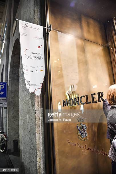 Moncler Shop Window during 'La Vendemmia 2015' The World's Finest Wine Lifestyle Experience on October 8 2015 in Milan Italy