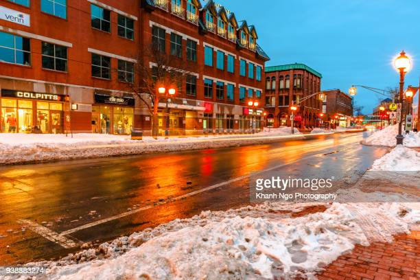 moncton city at night - khanh ngo stock pictures, royalty-free photos & images