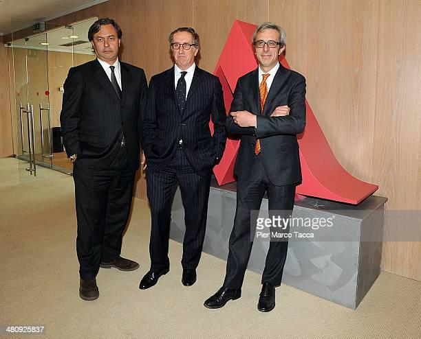 Mondadori Book Trade Director Riccardo Cavallero CEO of Mondadori Group Ernesto Mauri and Federico Rampolla Responsible for the area digital...