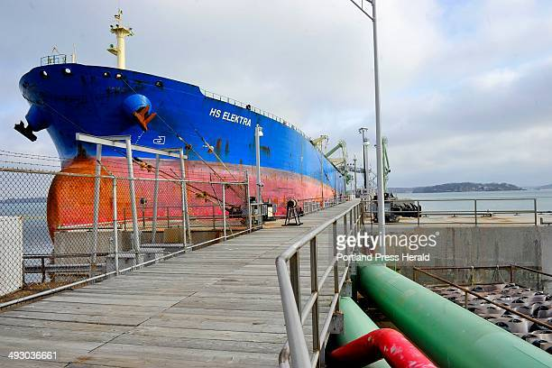 Monday March 11 2013 The Portland Pipeline operation in South Portland The oil tanker HS Electra unloads it's cargo of oil from the North Sea at the...