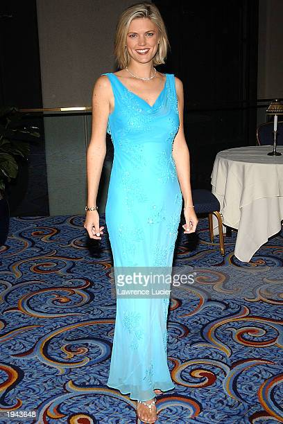 Monday Night Football reporter Melissa Stark arrives at the 24th Annual Sports Emmy Awards at the Marriott Marquis April 21 2003 in New York City