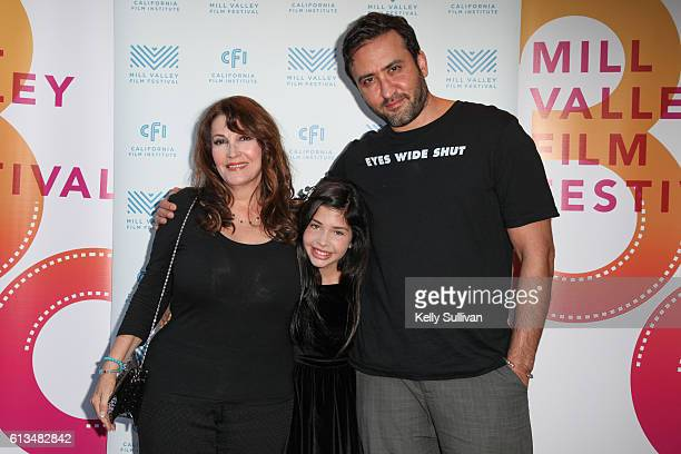 'Monday Nights at Seven' actors Mary Apick Kelea Skelton and director Marty Sader pose for photos on the red carpet at Cinearts @ Sequoia on October...