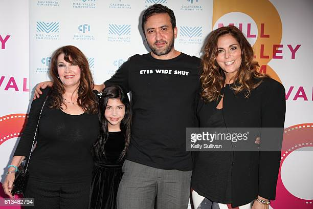 'Monday Nights at Seven' actors Mary Apick Kelea Skelton director Marty Sader and producer Laura Keys pose for photos on the red carpet at Cinearts @...