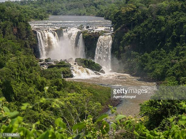 monday waterfall in paraguay, south america