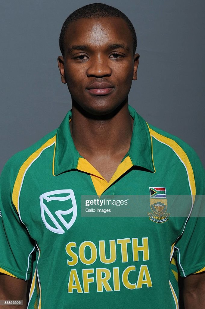 Monde Zondeki poses during the South African One Day International team portait session at Grayston Southern Sun on October 20, 2008 in Johannesburg, South Africa.