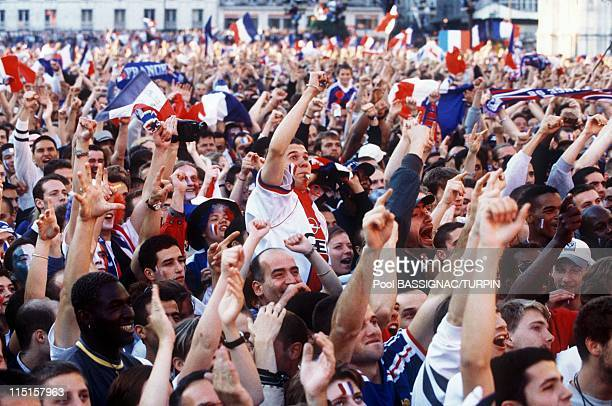 Mondial 98 Street Scenes After France Won semifinal against Croatia in Paris France on July 08 1998
